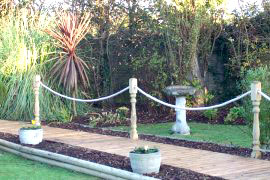 Projects R G Marine And Industrial Services Ltd - Garden decking rope