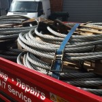 38mm diameter Suspension Bridge Ropes loaded up at our Sittingbourne premises.